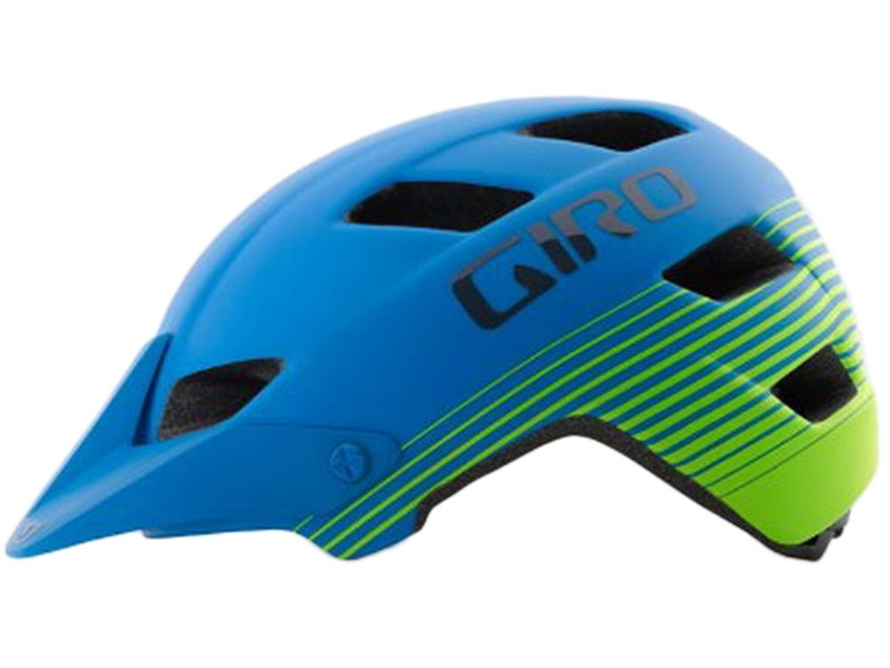 Giro: Feature matte blue/lime Radhelm