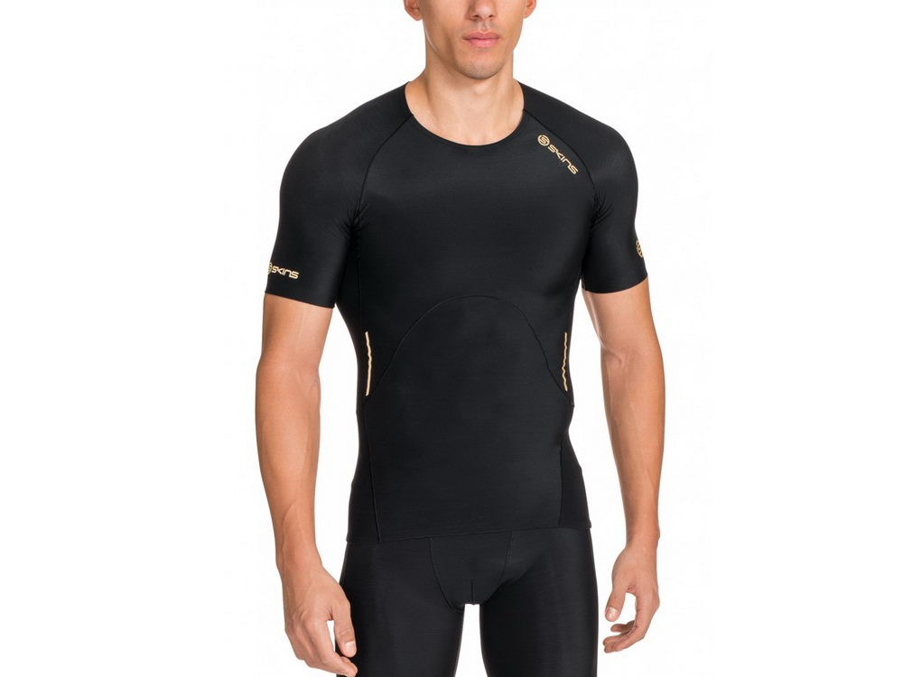 Skins: Bio A400 Mens Top Short Sleeve black