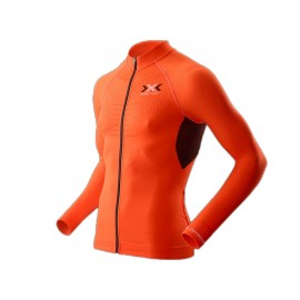 X-BIONIC The Trick Full Zip Langarm Radtrikot Herren (orange / schwarz)