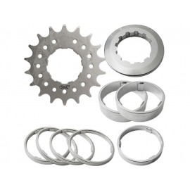"Point Single Speed Steckkranz (18 Zähne - 1/2"" - x3/32"" - CroMo - Ringe)"