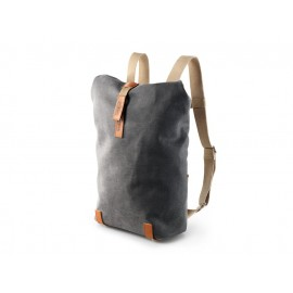 Brooks Pickwick Canvas Rucksack Small (grau / hellbraun)