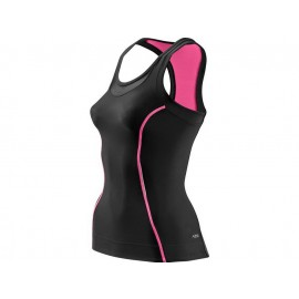 Skins: A200 Women's Compression Racer Back Top black-pink