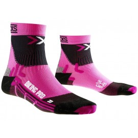 X-Socks Biking Ultralight Radsocken (schwarz / pink)