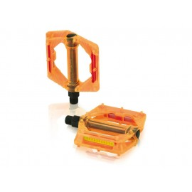 XLC:PD-M16 BMX/Freeride transparent-orange Plattformpedal